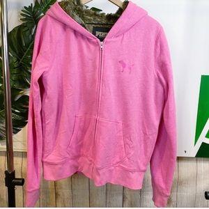 {VS Pink} Faux Fur Lined Sweatshirt